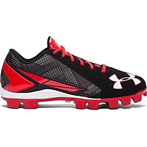 Under Armour Men's Leadoff Low RM Baseball Cleat Black/Red Size 8.5 M US