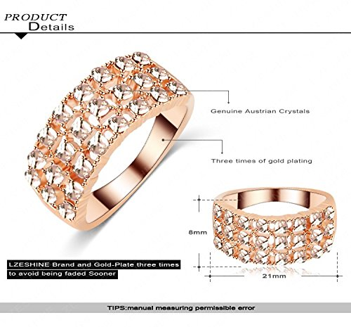 GemMart Jewelry Ladies Ring Rose Gold Plated Ring Jewelry Austrian Crystal Wedding Ring Ri-HQ1132-A