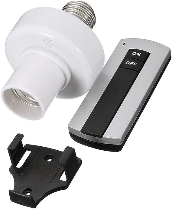 MagiDeal E27 220v T/él/écommande Sans Fil Lampe De Lumi/ère Ampoule Porte-capuchon Douille Commutateur