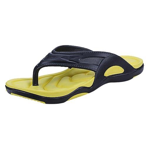 el más nuevo diseñador de moda la mejor actitud Sandalias y Chanclas de Playa para Hombre, QinMM Casual Zapatos de Baño  Verano Flip Flops
