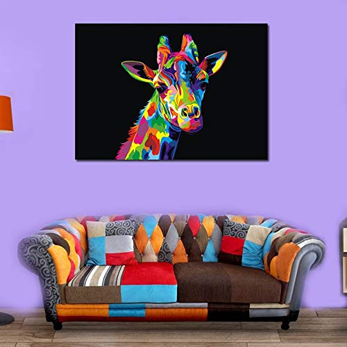 BFY Unframed Modern Abstract Oil Painting Watercolor Giraffe Huge Wall Decor Art On Canvas by BFY (Image #2)