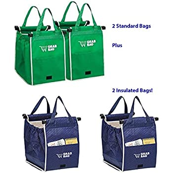 Amazon.com: Original Authentic Grab Bag Reusable Grocery Bag, 2 ...