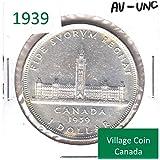 1939 Canada Commemorative $1 AU-UNC (AU-55) - #931955