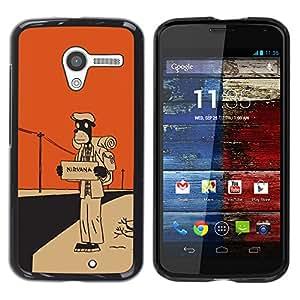EJOY---Cubierta de la caja de protección la piel dura para el / Motorola Moto X 1 1st GEN I / --Nirvana Hitchhike