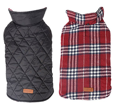 [YAAGLE Warm Double-sided Waterproof Thick Pet Jacket Dog Coat Clothing Apparel] (Ups Package Costume)