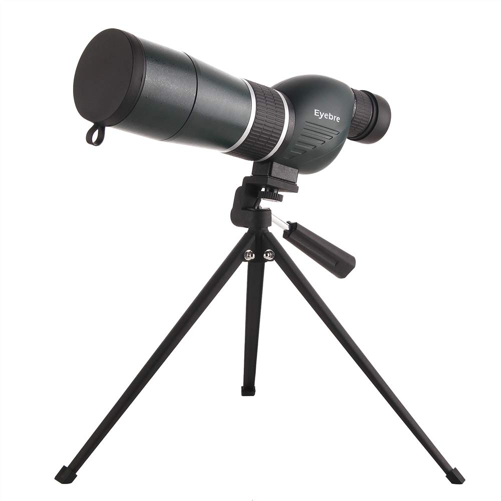 DQQ 15-45x60mm Telescopio Terrestre Recto HD Potente Militar Impermeable Zoom Potentes Visi/ón Nocturna con Tripode para Observaci/ón de Aves,Caza,Tiro al Blanco,Prismas BAK4 y Revestimiento FMC