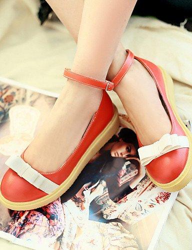 Naranja pink us7 punta redonda de piel Beige mujer rosa Casual 5 5 PDX sintética eu38 zapatos plano uk5 cn38 Flats talón de xw8anq6zEZ