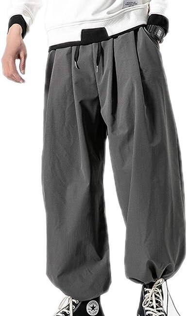 Pantalones De Pernera Ancha Con Cordon Suelto Y Pantalones Anchos Para Hombre Amazon Es Ropa Y Accesorios