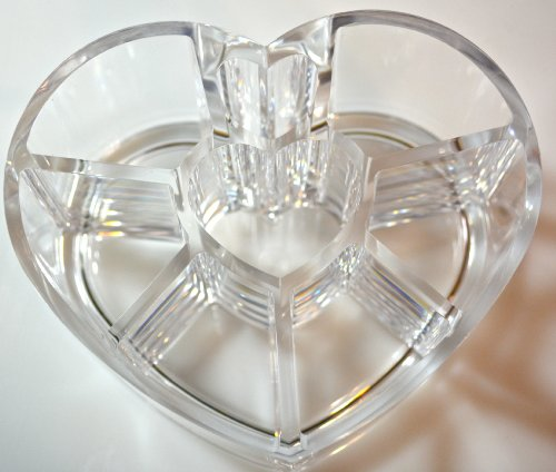 Acrylic Heart Shaped Cosmetic & Make Up Brush Holder by L.A. Minerals ® A Registered Trademark