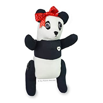 Cute Panda Bear Soft Toy Sewing Pattern Independent Design 9 Inch