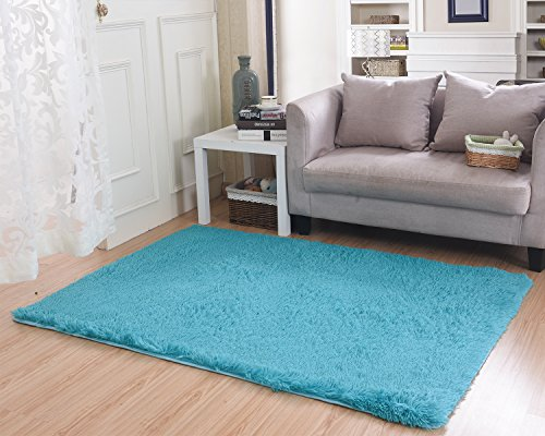 Living Room Bedroom Rugs MBIGM Ultra Soft Modern Area Thick Shaggy Play Nursery Rug With Non Slip Carpet Pad For 4 Feet By 52
