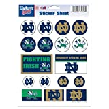 """NCAA Notre Dame Vinyl Sticker Sheet, 5"""" x 7"""""""