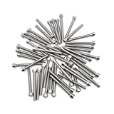 uxcell 50pcs Silver Tone Stainless Steel Motorcycle Hexagon Bolts Hex Screws M6 x 55