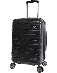 ORIGINAL PENGUIN Crimson 21 Hardside Carry-on Spinner Luggage, Black