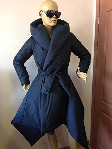 Women's Winter Hoodie Down Coat/ Wraped Puffer Asymmetrical Coat,Winter down jacket