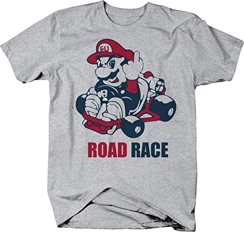 Road Race Rage Video Game Cart Finder T-Shirt - Large