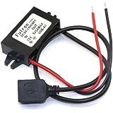 DROK® 3A/15W Convertitore di Alimentazione DC 8-22V 12V a 5V Adattatore Connettore USB Caricabatteria da Auto per iPhone / HTC / Nokia