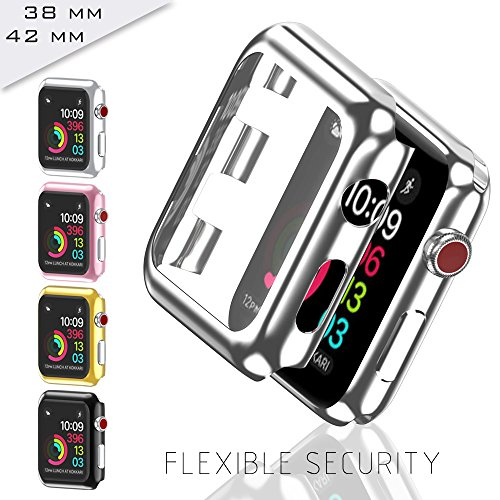 GerTong Apple Watch Case 42mm with Built in Screen Protector for Apple Watch Series 2 3 42mm (Rose Gold) by GerTong (Image #3)