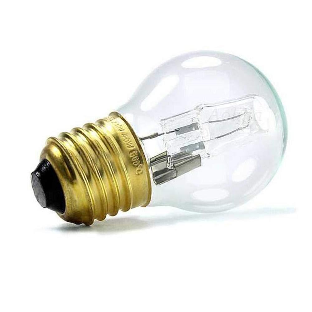 fervortop Bombilla Incandescentes Horno E27 40W L/ámpara Blanco C/álido para Horno De Microondas Ahorro De Energ/ía Alto Brillo 110-250V 500/°C