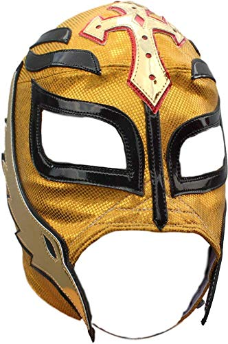 Rey Misterio Semi-Professional Lucha Libre Luchador Mask Premium Quality Golden