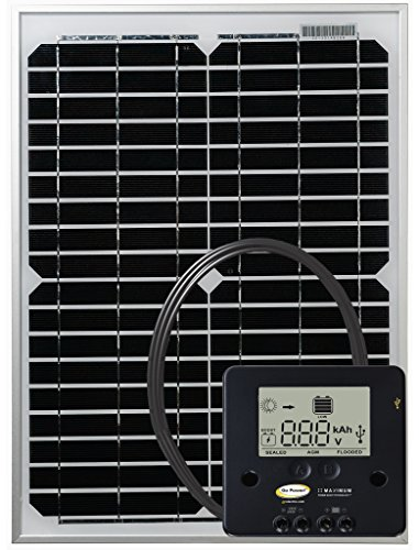 GO POWER GP-ECO-20 20W/1.2A Solar Kit W/Cont