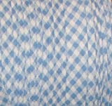 1/2'' EXTRA-wide Double Fold Bias tape Trim BLUE & White Gingham 10 yards