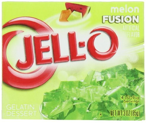 JELL-O Melon Fusion Gelatin Dessert Mix (3 oz Boxes, Pack of -