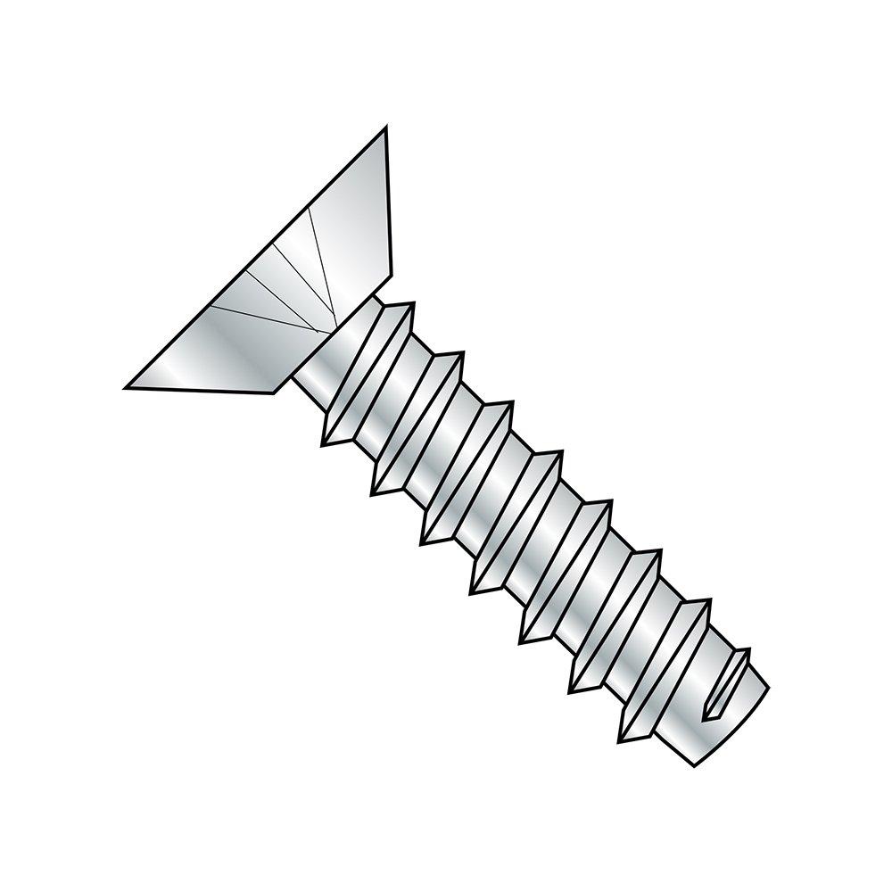 Pack of 100 Steel Sheet Metal Screw Zinc Plated 1//2 Length Undercut 82 degrees Flat Head Type B #6-20 Thread Size Phillips Drive