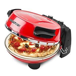 G3Ferrari G10032 Forno Pizza Plus, 1200 W, 1 Liter, 18/10_Steel, Termostato regolabile (400°C max), Rosso
