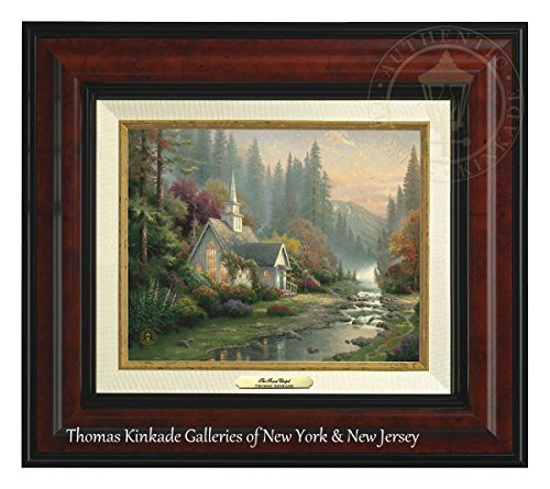 Thomas Kinkade The Forest Chapel 8'' x 10'' Canvas Classic (Burl) by Thomas Kinkade