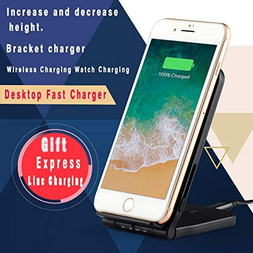 Amazon Com Wireless Charging Phone Stand Charging For Iphone Xs Max Xr Xs X Huawei P30 Pro Airpods Google Pixel 3 10w Fast Charging For Samsung Galaxy S10 S10 Plus S10e S9 S9 Plus No Ac Adapter Pink