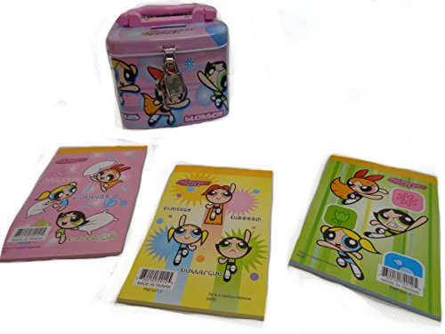 The Powerpuff Girls Tin Coin Bank with Lock Keys and Mini - Purse Mini Bank