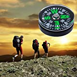 15mm Plastic Compass Environmentally Friendly Oil Injection 5pcs for Camping Hiking Healthy Outdoors Sports Mini Portable Outdoor Navigation Tool