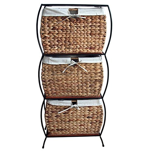 Rattan 3-drawer File Cabinet Metal For Ultimate Storage Strength
