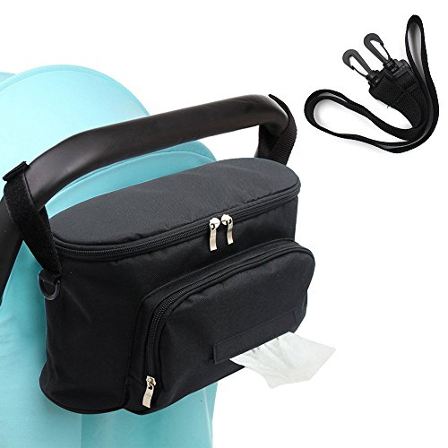 Kargou Best Stroller Organizer Pushchair Stroller Pram Baby Accessories Bag With Shoulder Strap for iPhones, Wallets, Books, Toys, iPads by Kargou
