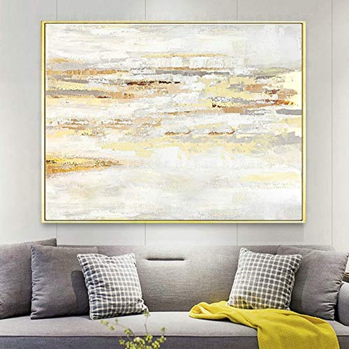 l Paintings,Abstract Landscape Style, Gold Foil Clouds, Paintings On Canvas Art, Large Size Home Decor Wall Art, For Bedroom Living Room Bedside Restaurant Painting Without Frame,1 ()