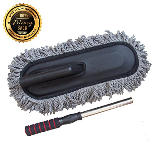 PGROUP Car Cleaning Tools Wax Brush Auto Exterior Retractable Long Handle Wash Brush Car Duster Dust Wax - Models Wiki Indian