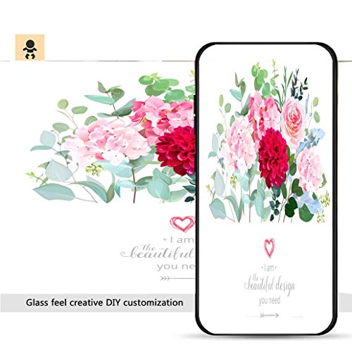 iPhone 7p / 8p Ultra-Thin Phone case Floral Design Vector Border in Watercolor Style_ Resistance to Falling, Non-Slip, Soft, Convenient Protective case