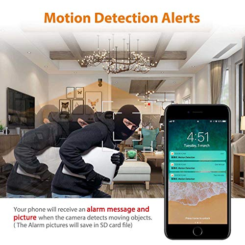 Mini Spy Camera WiFi, Relohas 1080P Spy Hidden Camera Upgraded Night Vision Spy Cam, Portable Nanny Camera with Motion Detection for Home/Office Security and Outdoor (with Cell Phone App) by Relohas (Image #4)