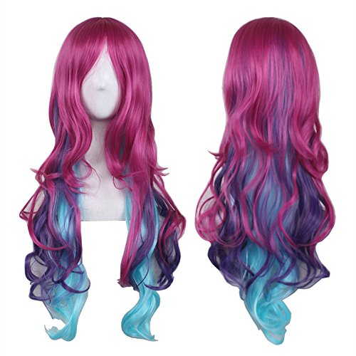 AneShe Cosplay Wigs for Women Hot Pink