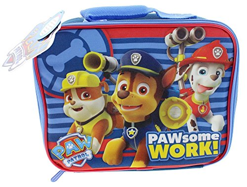 Paw Patrol Chase Rubble and Marshall PAWsome Work! Lunch Box