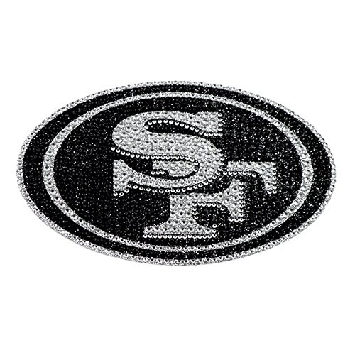 NFL San Francisco 49ers Bling Emblem, One Size, One Color