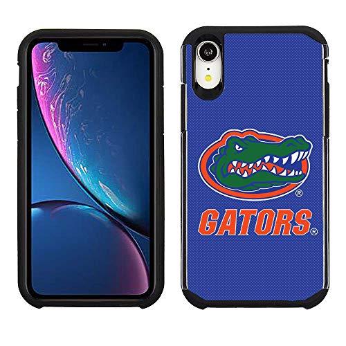 Prime Brands Group Cell Phone Case for Apple iPhone XR - Blue/Black - NCAA Licensed Case for Florida Gators