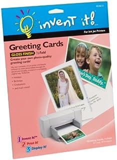 Amazon hallmark half fold glossy premium photo greeting cards invent it half fold gloss finish greeting cards m4hsunfo