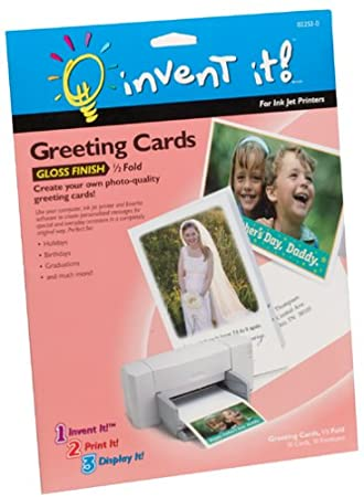 Amazon invent it half fold gloss finish greeting cards invent it half fold gloss finish greeting cards m4hsunfo Image collections