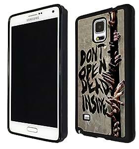Samsung GALAXY Note 4 Walking Dead Zombie Hands Do not open Gel diseño Fashion Trend de goma de silicona de goma carcasa-metal y plástico