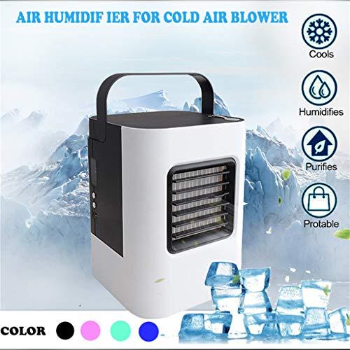 (Tpingfe USB Charging Air Conditioner Fan Mini Portable Refrigerator Air Cooler Nano Fan (Black))