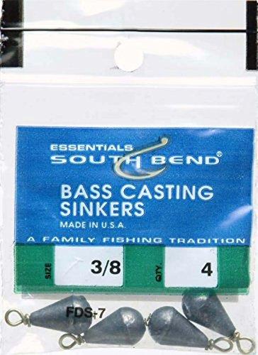 South Bend Bass Casting Sinker (Black) 3/8 oz