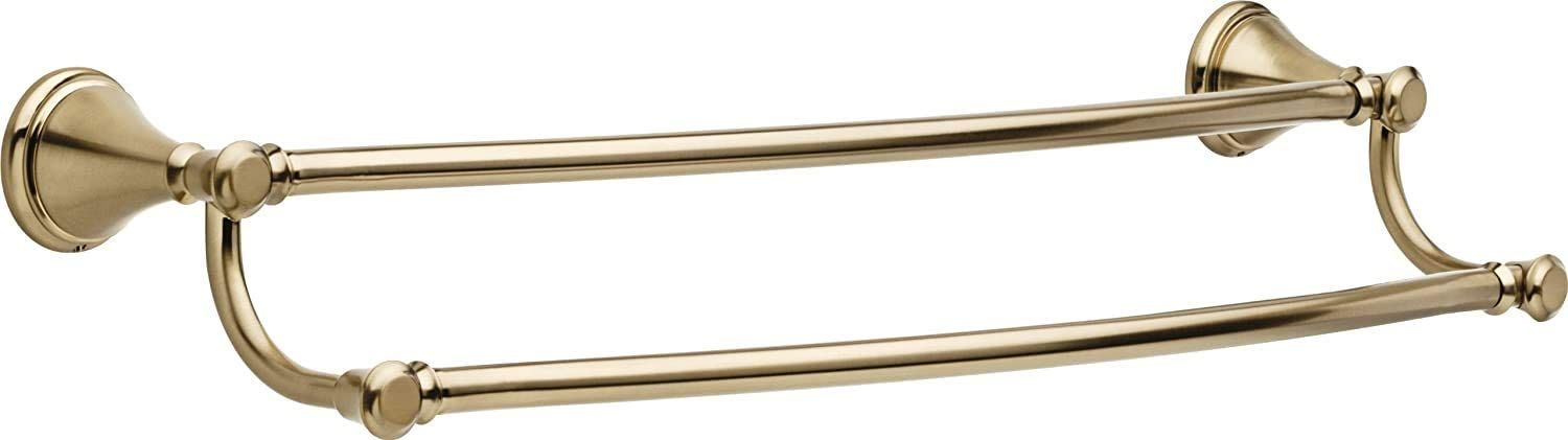 Polished Nickel Delta Double Towel Bar Cassidy 24 in