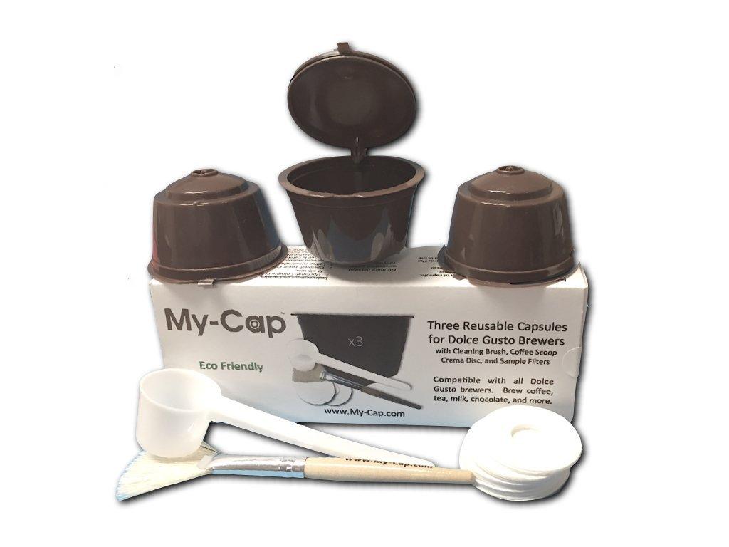 My-Caps 3 Reusable/Refillable Capsules for Nescafé Dolce ...
